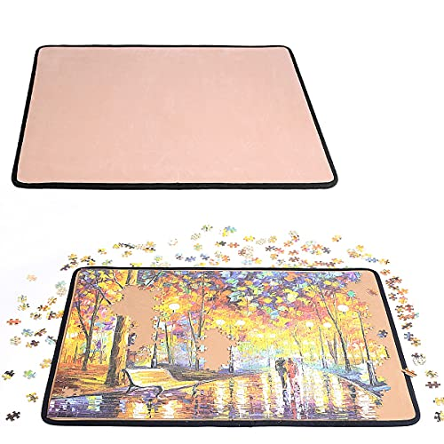 Jigsaw Puzzle Board Puzzle Mat- Ingooood Easy Move Storage Jigsaw Puzzle mat Work Separate Puzzle Board for up to 1,000 Pieces Durable jigboard