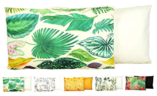 JACK Outdoor Lounge Kissen 30x50cm Motiv Dekokissen Wasserfest Sitzkissen Garten Stuhl, Farbe:Amazonas