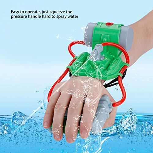 SALUTUYA Bordes Lisos sin Rebabas Pistola de Agua para niños Resistente y Duradera Juguete Mango ergonómico Trajes Perfectamente Fresco y Moderno para bebés, para bebés(Green)