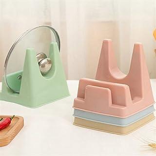 Plastic Pot Lid Shelf Spoon Rests Multifunctional Foldable Cooking Storage Decor Tool Stand Holder Kitchen Organizer (Color : Beige)