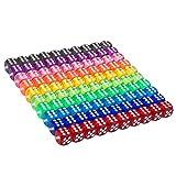 Conjunto de Dados de 6 Caras de Colores Translúcidos de 100 Piezas, 16 mm de Dados de...