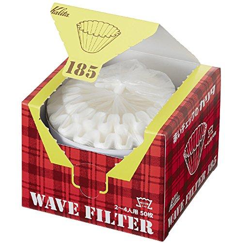 Kalita Wave-Filter KWF-185 Packung mit 50 Blatt Weiß Convenient Box Typ zur Entnahme und Speicherung von 22210 (Japan Import) (185 (2 bis 4 Personen))