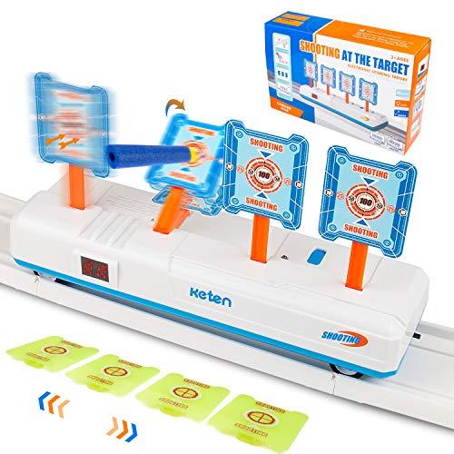 Keten 2020 Objetivo Móvil Digital Eléctrico para Nerf, Juguete de Reinicio Automático con Efecto de Sonido de Luz para Nerf Blaster Elite/Mega/Rival Serie, Regalo Ideal para Niños