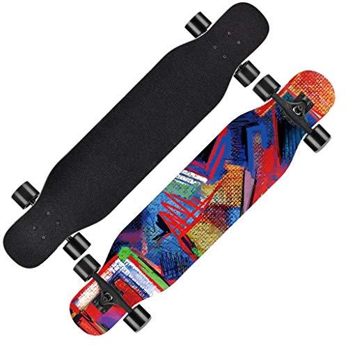 ZXC Home Skateboard voor outdooractiviteiten, longboard, beginners voor volwassenen, dansen, tip van de jeugd, met vier wielen, scooter