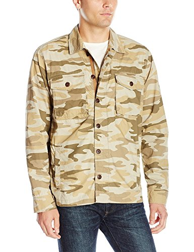 Lucky Brand Men's Military Shirt Jacket, Camo Print, X-Large