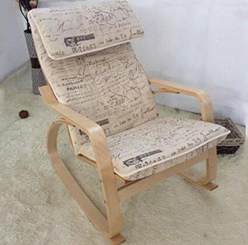 Tabouret en bois Chaise berçante nordique balcon paresseux chaise berçante en bois massif chaise longue chaise longue chaise berçante femmes enceintes tabouret (Couleur : #2)