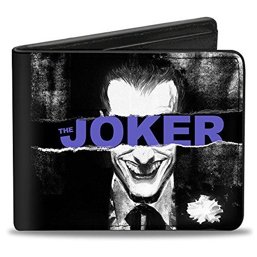 Buckle Down Herren Bifold Wallet Joker Zweifalten-Geldbörse, mehrfarbig, 10.1 cm x 8.89 cm