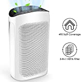 Air Purifiers for Home Large Room 495 sq. ft. Air Choice True HEPA Air Filter, Air Cleaner for Allergies and Pet,Hair, Pollen, Dust, Smokers,Fumes, Odor Eliminators for Bedroom Smart Auto Mode, Timer