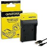 PATONA Estrecho Cargador Compatible con Sony Baterías NP-FP50 NP-FP60 NP-FP70 NP-FP90 NP-FH40 NP-FH50 NP-FH60 NP-FH70 NP-FH100