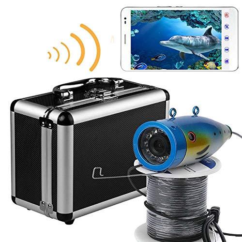 XINTONGSPP Buscador de Peces bajo el Agua, HD 1000tvl WiFi Cámara de Pesca inalámbrica de WiFi de WiFi, grabación de Video, admite grabación de Video y Tome la Foto, con la cámara,50m