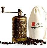 Turkish Handmade Grinder, Spice Grinder, Pepper Grinder, Pepper Mill 3.0'' (Antique Gold)