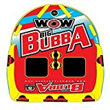 Wow World of Watersports Big Bubba, 1 to 2 Person Towable Deck Seat and Tow Rope Bundle