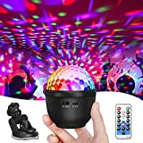 SOLMORE Disco Ball Lights for Car USB Lights Portable Party Lights Battery Operated Strobe Lamp 12 Colors with Remote and USB Plug Rotating Lights Mini Disco Ball for Home Room Parties Kids Birthday