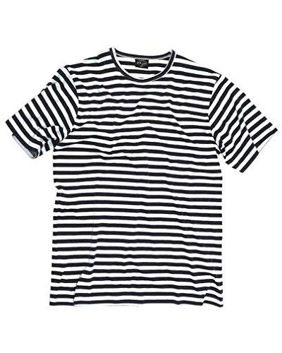 Mil-Tec T-shirt marin à rayures Bleu/blanc XXXL