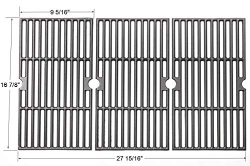 BBQ funland Porcelain Cast Iron Grill Grate Cooking Grid Replacement for Charbroil 463436213, 463436214, 463436215, 463440109 Gas Grills 16 7/8