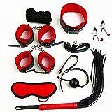 Juguete de cuero 8PCS, juego de bola de bola, cuerda de embalaje, venda para los ojos