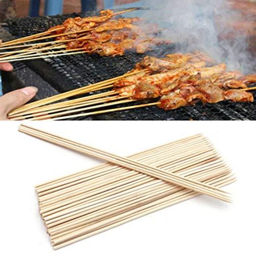 51amcqXdDZL - hearsbeauty 50 / 100Pcs Tragbare Einweggrill BBQ Bambusspieße Fleisch Essen Fleischbällchen Holzstäbchen 2,5 mm * 25 cm