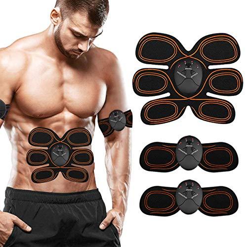 ZHENROG Electroestimulador Muscular Abdominales Cinturón,Estimulación Muscular Masajeador Eléctrico Cinturón Abdomen/Brazo/Piernas/Glúteos(Hombre/Mujer)