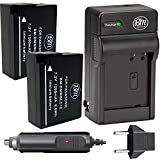 BM Premium High Capacity 2 Pack of DMW-BLC12 Batteries and Charger for Panasonic Lumix DC-FZ1000 II DC-G95 DMC-G85 DMC-GH2 DMC-G5 DMC-G6 DMC-G7 DMC-GX8 DMC-FZ200 DMC-FZ300 DMC-FZ1000 DMC-FZ2500 Camera