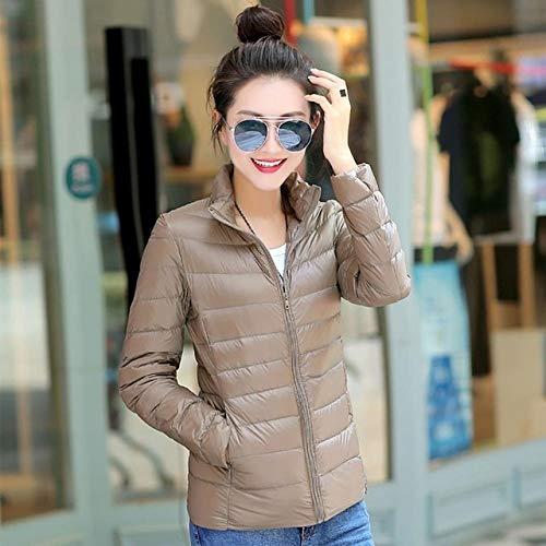 YRFHQB Fashion Brand 90% Daunenparka Jacke Frauen Ultra Light Daunenjacke Warme Weste Daunenparka Mantel Weibliche Winter L Braun