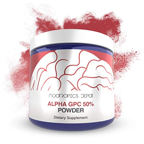 Alpha GPC Powder (50%) | 60 Grams | Cholinergic Supplement | Brain Health Supplement | Supports Healthy Brain Function | Enhance Cognition, Memory + Focus