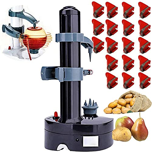 Electric Potato Peeler Automatic Peeler with 18 Replacement Blades...