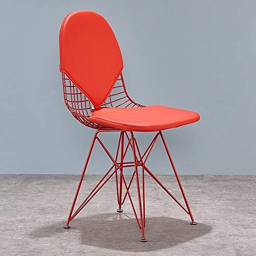 TTPF Europäische Hochstuhl Chairs kreative Eisen Sessel Sessel Designermöbel Restaurant Stühle minimalistisch, Wohnzimmer,Red