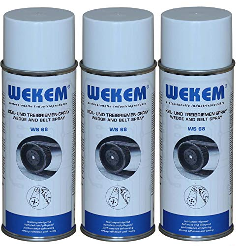 Wekem 3er Sparpack 400ml Keil- und Treibriemen-Spray WS68