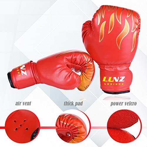Kinder Boxhandschuhe mit Klettschluss Klein Box-Handschuhe für Kinder von 3 - 10 Jahre Training Gloves 6 Unzen zum MMA, Muay Tha Abbildung 2