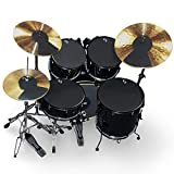 "Vic Firth Rock Version Drum and Cymbal Mute Pad Set: 12"", 13"", 14"", 16', 22' Drum Pads Plus Hi-hat and 2 x Cymbal pads"