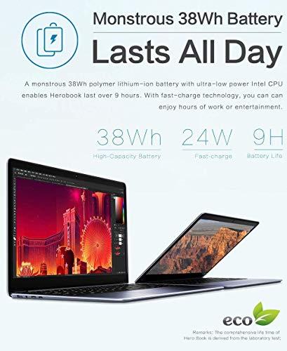 Product Image 7: CHUWI Herobook Pro 14.1 inch Windows 10 Intel N4000 Dual Core 8GB RAM 256GB ROM Notebook,Thin and Lightweight Laptop,BT4.0 (Herobook Pro (Herobook Pro(2020))
