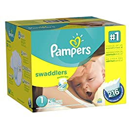 Diapers Newborn / Size 1 (8-14 lb), 216 Count – Pampers Swaddlers Sensitive Disposable Baby Diapers, (old version) (Packaging May Vary)