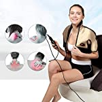 FQDS Far-Infrared Electric Heating Warm Shoulder Pad Vibration Heating Shoulder and Neck Massage Instrument Moxibustion Heat Massage for Muscle Pain Relief Home Car