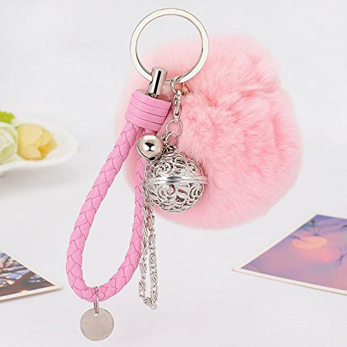 jieGorge Cell Phone Car Keychain Pendant Handbag Charm Key Ring PK, Other , for Christmas Day (Pink)