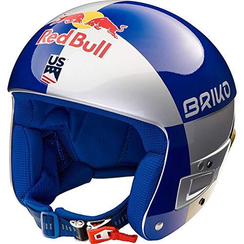 Briko Vulcano FIS 6.8 RED Bull LVF Skihelm Shiny Silber/blau/Gold 56cm