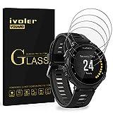ivoler [4 Unidades] Protector de Pantalla para Garmin Forerunner 735XT, Cristal Vidrio Templado Premium