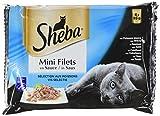 Sheba Mini Filets en Sauce pour Chat Adulte – Nourriture humide pour Chats - sélection aux poissons – Sachets fraîcheur 52 x 85g