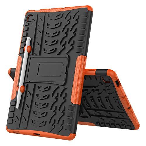 Lobwerk - Funda para Samsung Galaxy Tab S6 Lite SM-P610 SM-P615 de 10,4 pulgadas, impermeable, lavable, resistente a los golpes, color naranja