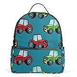 Coche Auto Tractor Azul Mochila para Mujeres Adolescentes Niñas Monedero Bolsa de Moda Librería Niños Viajes...