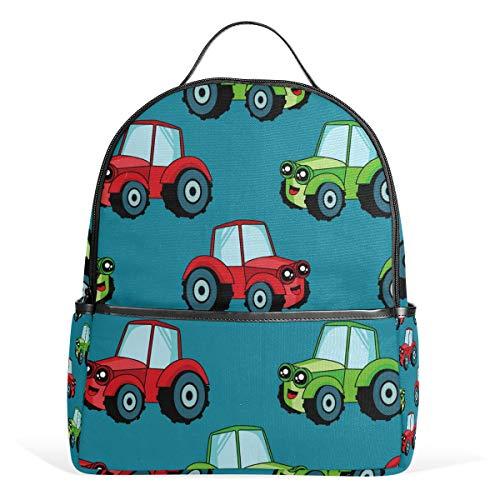 Auto Trattore Blu Zaino per le Donne Teen Ragazze Borsa Moda Bookbag Bambini Viaggi College Casual Daypack Ragazzo Prescolare Ritorno a Scuola Forniture Mini