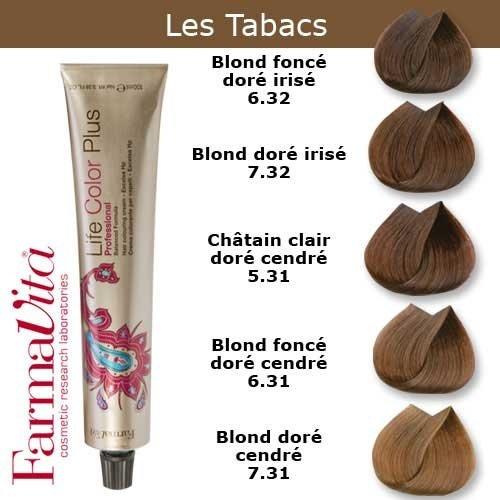 Coloration cheveux FarmaVita - Tons tabacs Blond foncé doré cendré 6.31