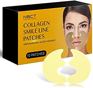 Smile Line Patch | Anti-Wrinkle Facial Strips | Moisturizing & Tightening | Laugh Lines Care Patches | 2019 Formula - 5 Pairs