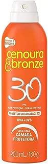 Cenoura&Bronze Protetor Aerosol FPS30, Branco, 200ml