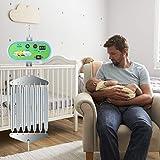 InLoveArts Controller per altalena elettrico per bambini con vibrazione e velocità di oscillazione regolabile, controllo della culla elettrica sospesa con timer regolabile Molla oscillante 21 kg