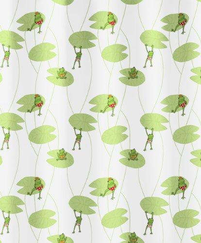 Kleine Wolke 5128148305 Duschvorhang Frog, 180 x 200 cm, Multicolor