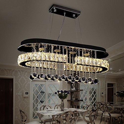 AMOS Lampadario a cristallo rettangolare moderna moderna illuminazione del ristorante principale