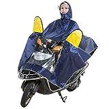 LULUDP Poncho pioggia Impermeabile Motociclista Elettrico Adulto Cappello Doppio PonchoUomini E Donne Casco Singolo Telo Impermeabile Coprivetrino A Due Lati Aumento Impermeabile, XXXXL Set impermeabi