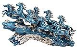 Estatua de escultura de escritorio China Lucky Eight Horses Escultura artística Animal Caballo Muñeca Resina Artesanía Estatua Estudio en casa Accesorios de decoración de oficina Decoración de