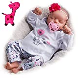 JIZHI Lifelike Reborn Baby Dolls Soft Body 17 Inch Realistic Newborn Baby Dolls Real Life Baby Dolls with Toy Accessories Gift for Collection & Kids Age 3+