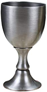 Wine Goblet Glasses Chalice 3.5 OZ European Liquor Cup Metal Copper Handmade Glass 100ML Silver Gold Red Bronze Color for ...